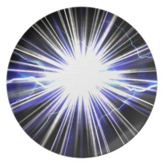 電気稲妻の星の破烈 プレート