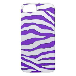 電気紫色のグリッターのシマウマのiPhone 7の箱 iPhone 8/7ケース
