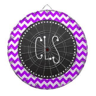 電気紫色のシェブロン; ジグザグ形; 黒板 ダーツボード