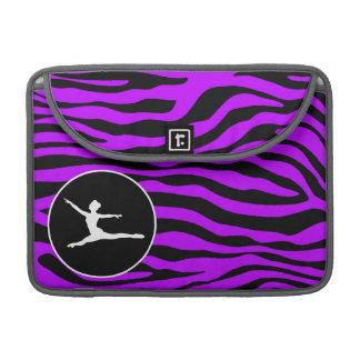 電気紫色のシマウマは縞で飾ります; バレエ MacBook PROスリーブ