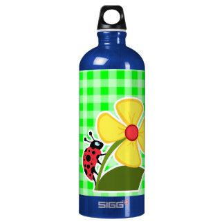 電気緑のギンガム; ; てんとう虫 ウォーターボトル