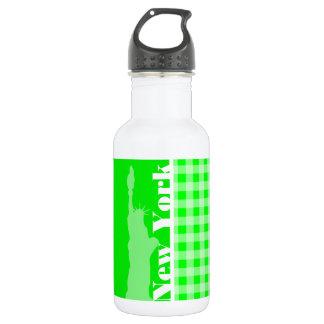 電気緑のギンガム; ニューヨーク ウォーターボトル