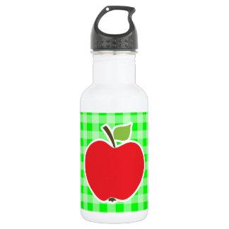 電気緑のギンガム; Apple ウォーターボトル