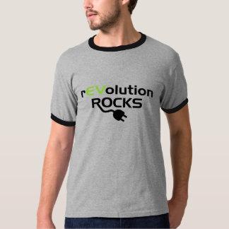 電気自動車の石 Tシャツ
