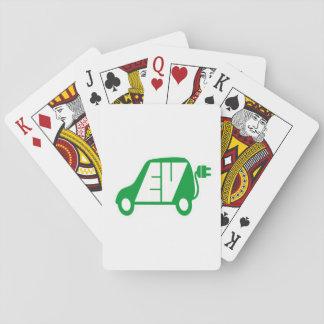 電気自動車緑EVアイコンロゴ-カード トランプ