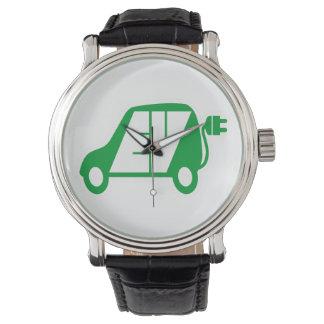 電気自動車緑EVアイコンロゴ-腕時計 腕時計