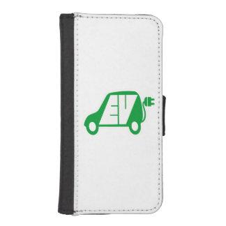 電気自動車緑EVアイコンロゴ- iPhoneSE/5/5sウォレットケース