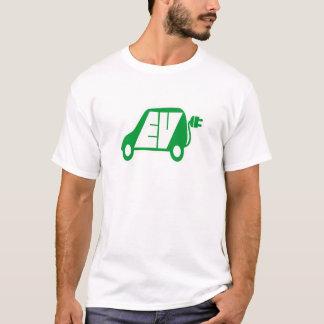 電気自動車緑EVアイコンロゴ- Tシャツ