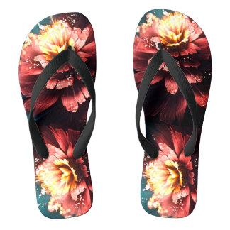 電気花弁のビーチサンダル ビーチサンダル