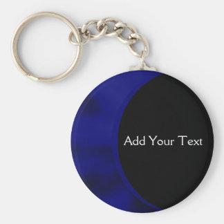 電気青いカーブ キーホルダー