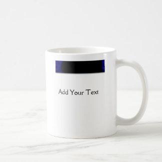 電気青いカーブ コーヒーマグカップ