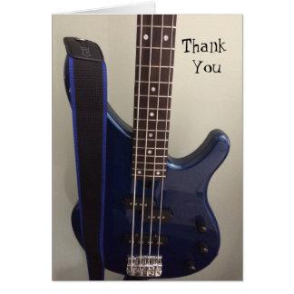 電気青いギターは感謝していしています カード