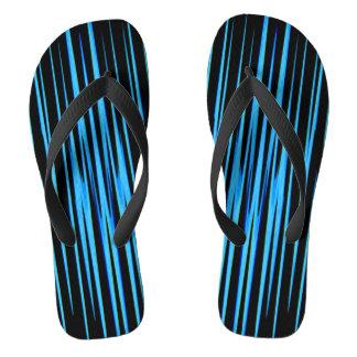 電気青いタイル(抽象美術のデザイン)の~ ビーチサンダル