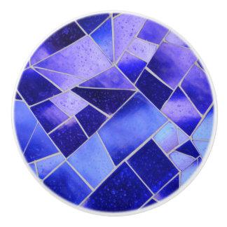 電気青いモザイク セラミックノブ