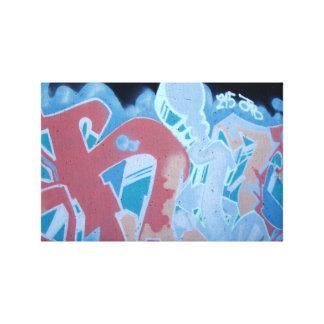 電気青い落書きのキャンバスプリントのプリント キャンバスプリント