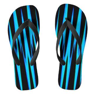 電気青い覆い(抽象美術のデザイン)の~ ビーチサンダル