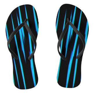 電気青い(抽象美術のデザインの) ~ ビーチサンダル