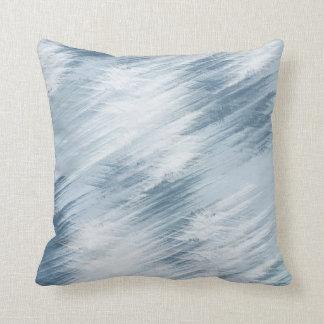 電気青の抽象芸術 クッション