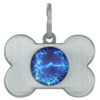 電気青 ペットネームタグ
