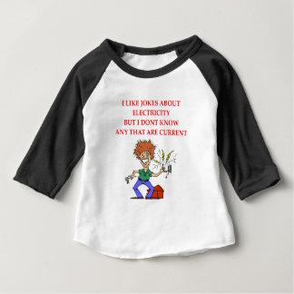 電気 ベビーTシャツ
