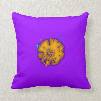 電気Zの紫色の正方形の枕 クッション