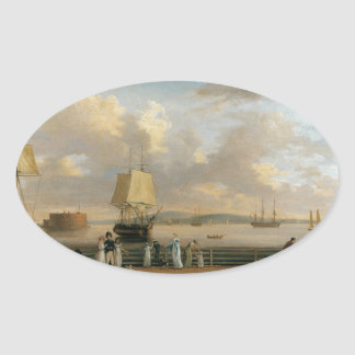 電池および港-ニューヨーク1811年 楕円形シール