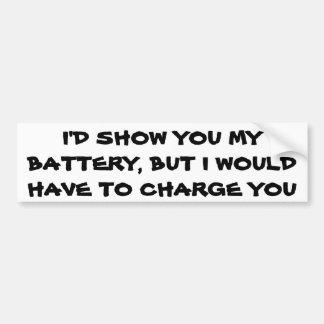 電池のしゃれ バンパーステッカー