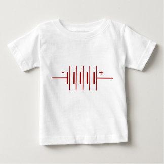 電池の記号 ベビーTシャツ