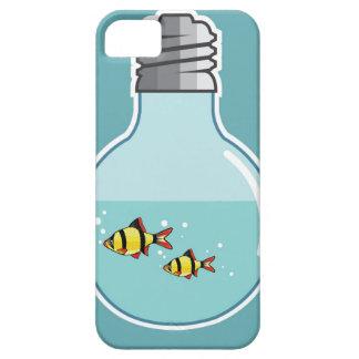 電球のベクトル絵の中の魚 iPhone SE/5/5s ケース