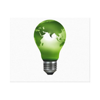 電球の惑星の地球のデザインeco.png キャンバスプリント