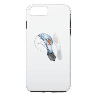 電球の金魚タンク iPhone 8 PLUS/7 PLUSケース