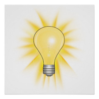 電球-ライトを薄暗くして下さい ポスター