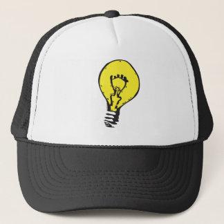 電球! 明るいアイディアのトラック運転手の帽子 キャップ