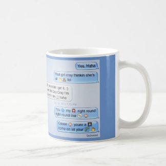 電話での会話 コーヒーマグカップ
