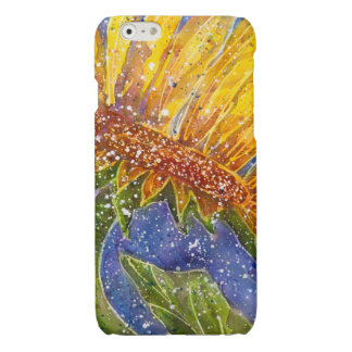 電話のためのヒマワリの水彩画カバー 光沢iPhone 6ケース
