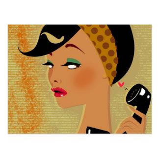 電話の女の子 ポストカード