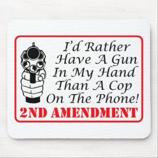 電話の警察官より私の手の銃 マウスパッド