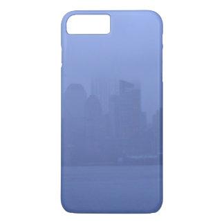 電話はニューヨークシティのスカイラインの青の霧を包装します iPhone 8 PLUS/7 PLUSケース