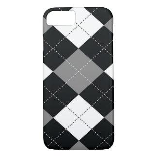 電話またはタブレットの箱-アーガイル柄のな正方形-フィルム iPhone 8/7ケース