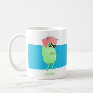 電話を持つ都市モンスター コーヒーマグカップ