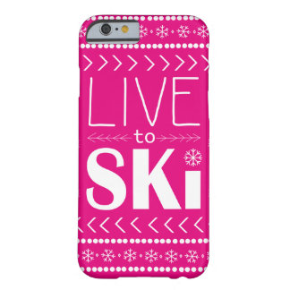 電話スキーをするために箱-ショッキングピンク住んで下さい BARELY THERE iPhone 6 ケース