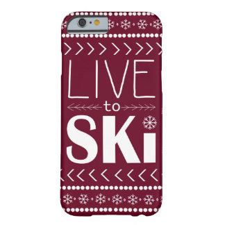電話スキーをするために箱-赤住んで下さい BARELY THERE iPhone 6 ケース