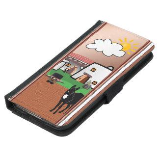電話スタイルの大農場を選んで下さい GALAXY S5 ウォレットケース