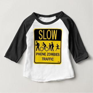 電話ゾンビの交通 ベビーTシャツ