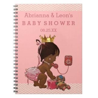 電話ベビーシャワーの来客名簿の民族のプリンセス ノートブック