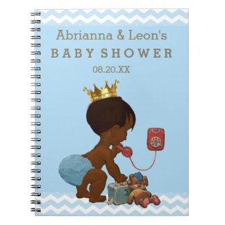 電話ベビーシャワーの来客名簿の民族の王子 ノートブック