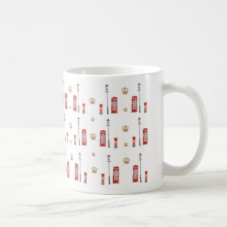 電話ボックスのマグ コーヒーマグカップ