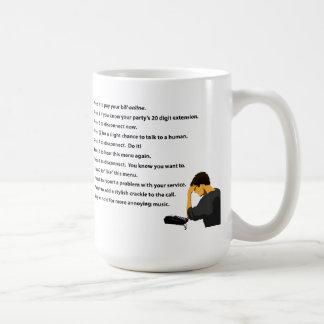 電話メニュー コーヒーマグカップ