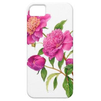 電話箱のピンクのシャクヤク iPhone SE/5/5s ケース