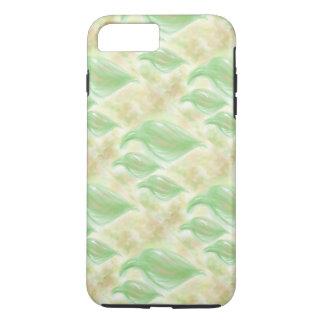 電話箱の柔らかい緑の葉パターン iPhone 8 PLUS/7 PLUSケース